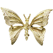 Vintage Gerrys Butterfly Pin gold Tone