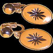 Vintage Western Germany Plastic Earrings
