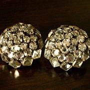 Sterling Silver Glass Crystal Bead Earrings