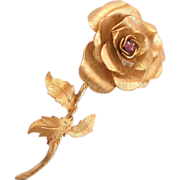 Signed Vendome Sterling Silver Flower Pin