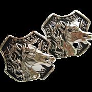 Vintage Swank Horse Head Cufflinks Extra Large