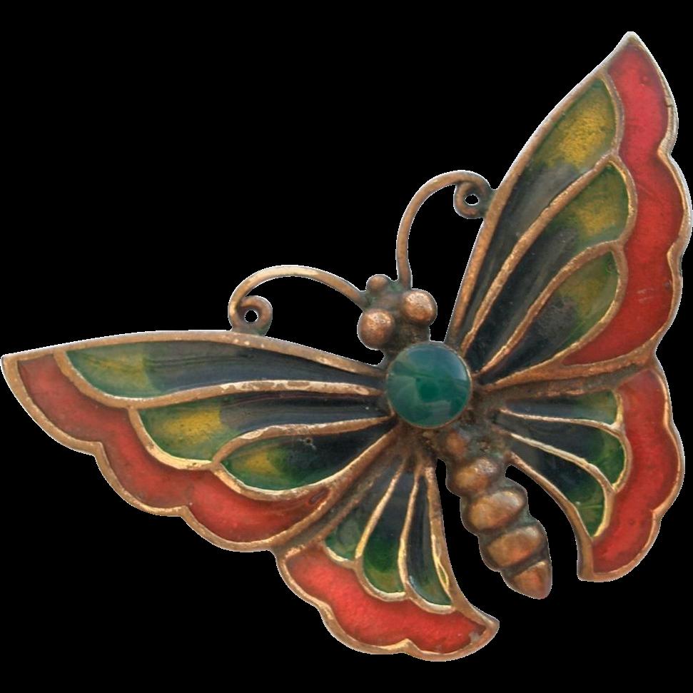 Vintage Enamel Butterfly 23