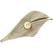 Vintage Milano 1/20 12 k GF with Cultured Pearl Pin / Brooch