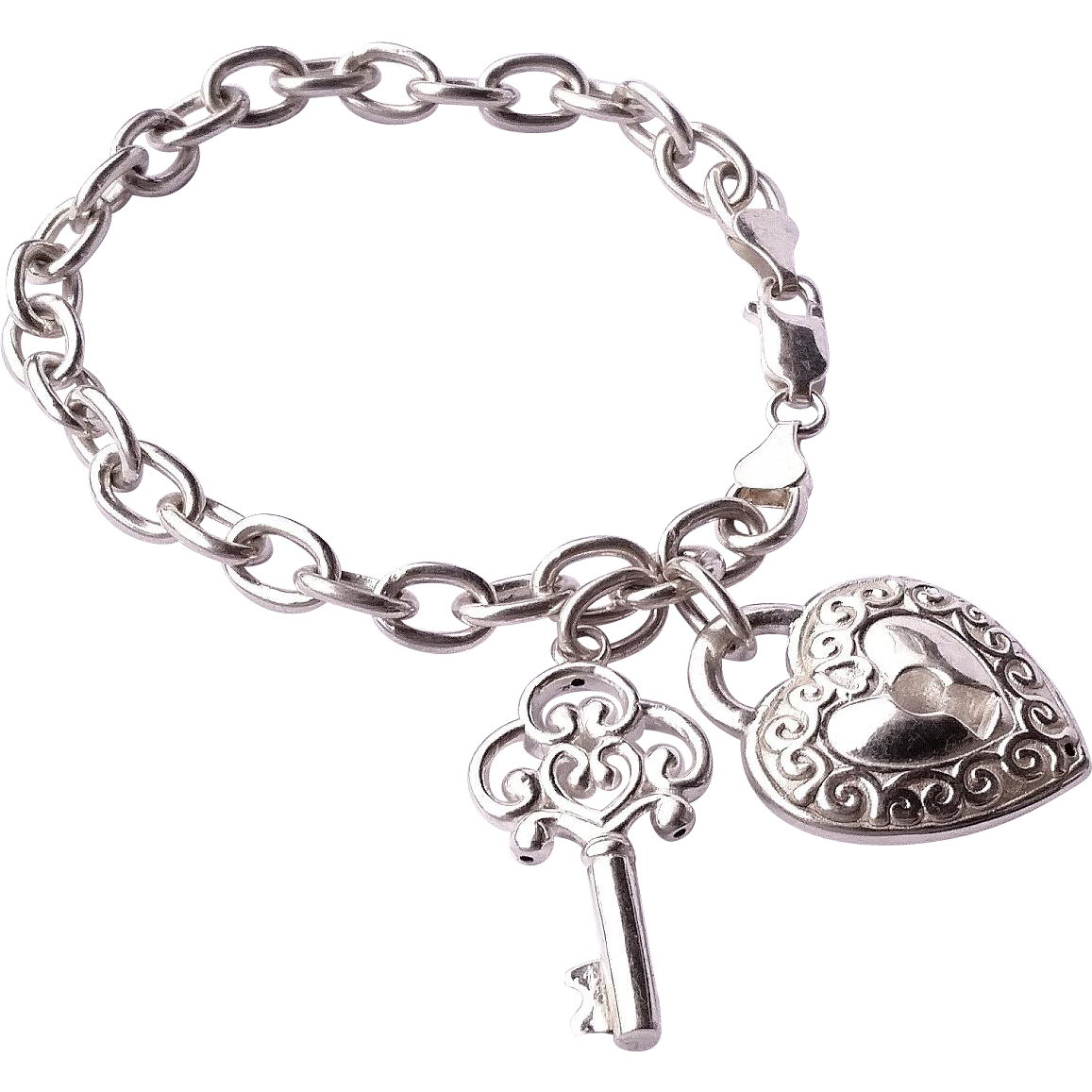 jcm mauritius 925 sterling silver lock and key