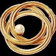 Vintage 1/20 12k GF Winard cultured Pearl Pin