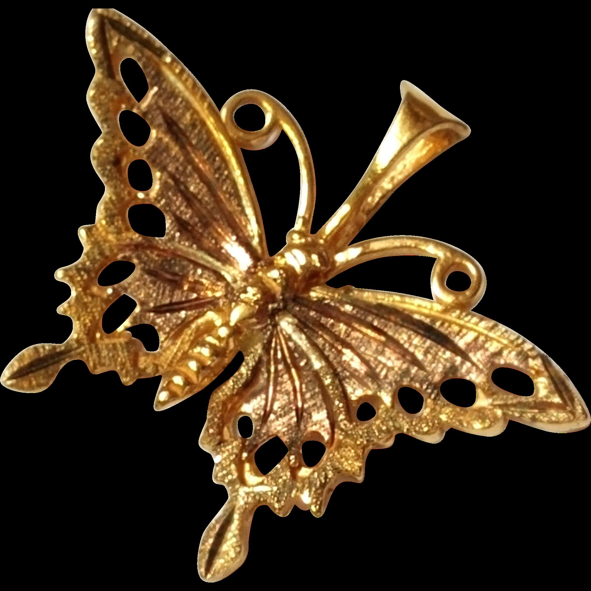 Vintage Butterfly Pendant Festival Gay