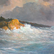 Dynamic Seascape Oil on Canvass by S. De Korsakoff