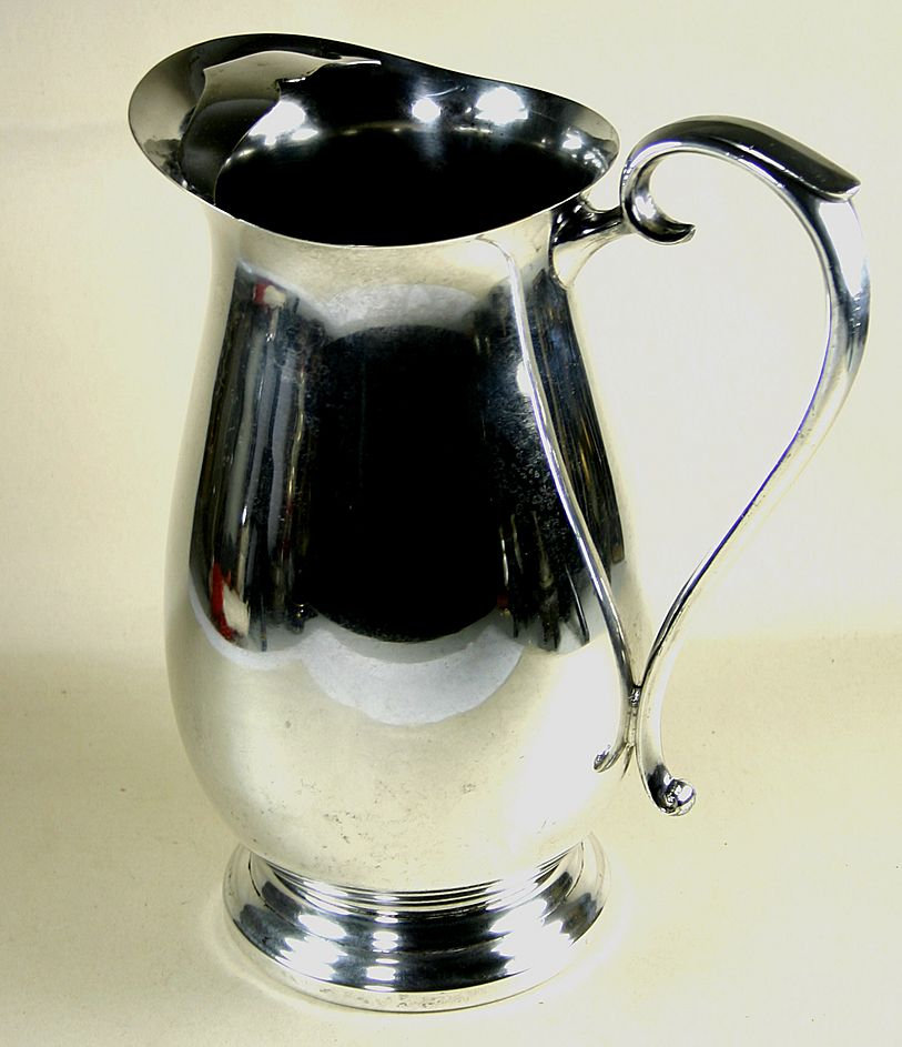 Great F.B. Rogers Silver Plate Pitcher with Ice Lip