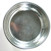 Shirley Williamsburg Virginian Hand Made Pewter Wine Coaster