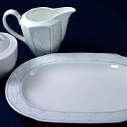 Villeroy & Boch Heinrich White Blue Sugar/Creamer Set