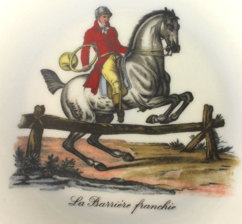 Raynaud & Co Cabinet Plate: La Barriere Franchie, Limoges