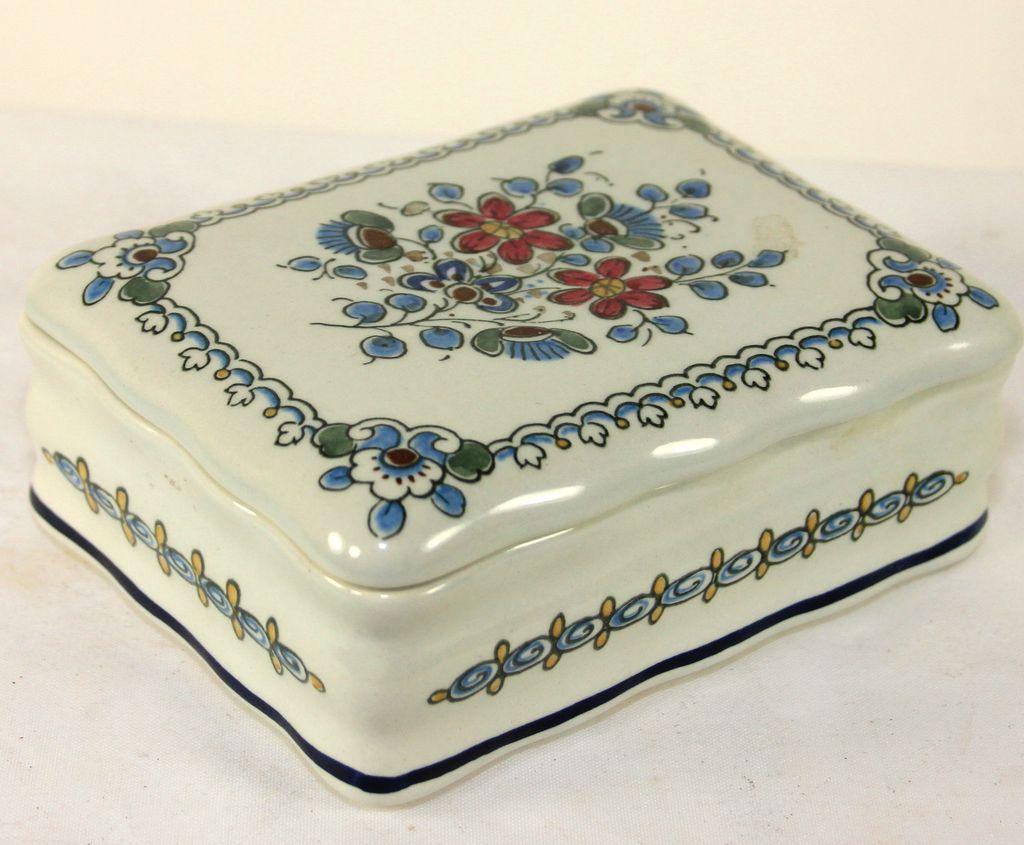 Original Delft Royal Goedewaagen Trinket/Dresser Box