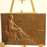 French bronze medal, Hippolyte Lefebvre, Ville de Rouen