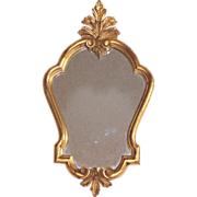 Antique French gilded wood Louis XV mirror