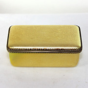 Antique French gold colored enamel trinket box