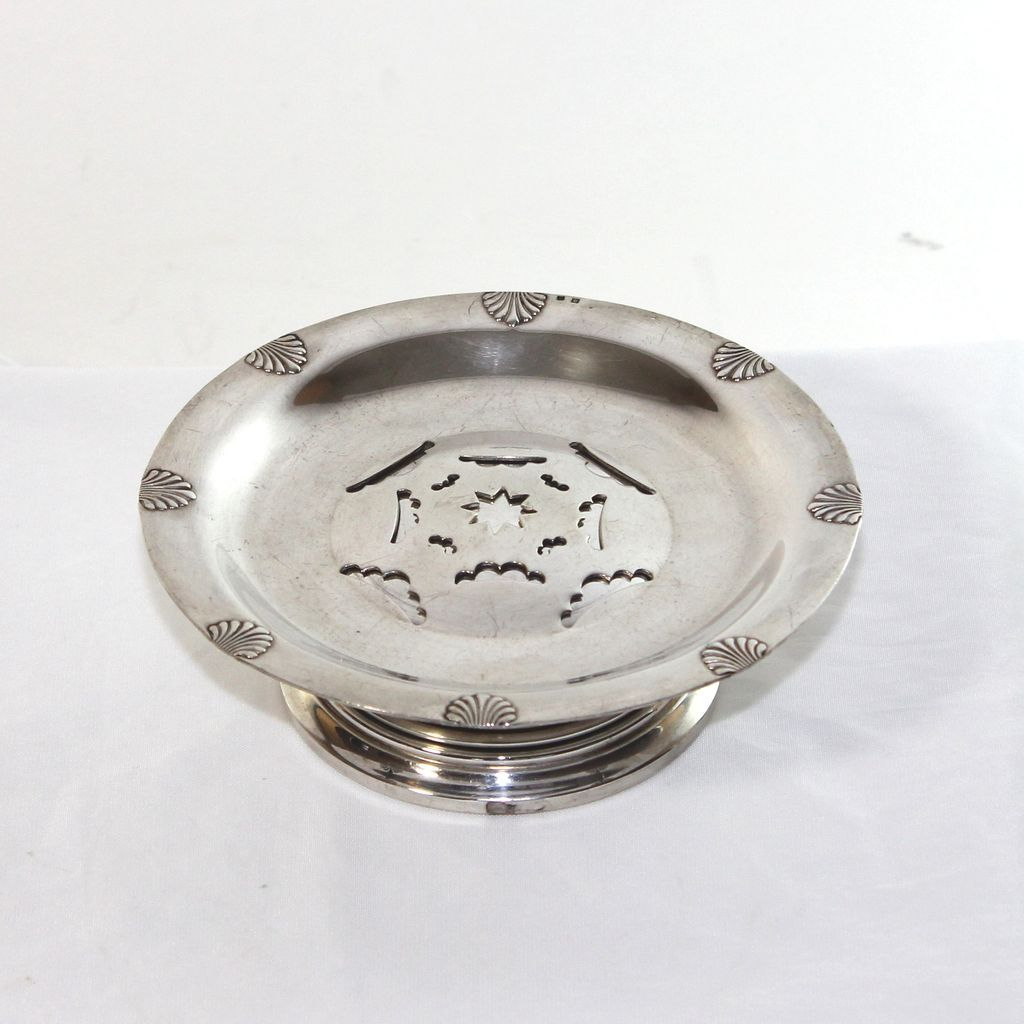 Antique French Coquillor, Beurrier, butter pat dish