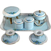 Large complete hand painted dresser set, Limoges, Royal Bayreuth, Spicer Studio