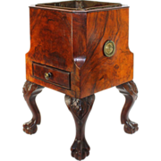 Unique George III Mahogany Wine Cooler
