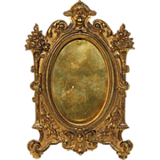 French gilt bronze picture frame with easel back