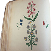 George Brookshaw 1816 Treatise Flower Painting Book with Plates