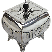 Antique English Silver Plate Tea Caddy