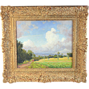 Landscape Oil Painting by Dutch Listed Artist Carel Lodewijk Dake II (1885-1946)