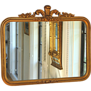 Vintage George III Style gilt Wood Mirror with Prince of Wales Crest