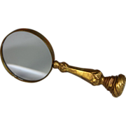 Antique French Gilded Bronze Magnifying Glass