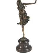 Bronze Sculpture of a Dancing Girl After Chiparus