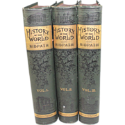 Cyclopedia of Universal History Complete in 3 Volumes  Ridpath, John Clark 1885