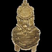 Antique French Bronze Porte Montre Pocket Watch Holder