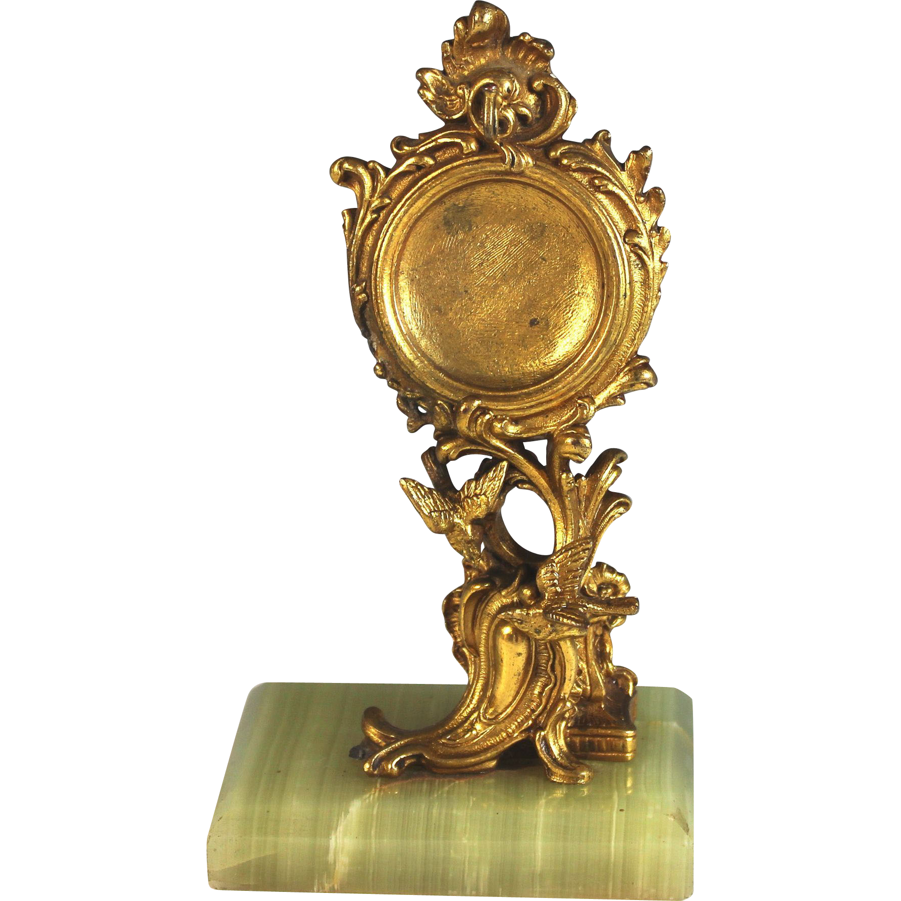 Antique french bronze dore porte montre watch stand with for Porte french