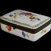 Rare Jlmeneau  Hinged Porcelain Trinket Box Graf von Henneberg