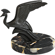 Art Deco French Presse Papier of a Phoenix Bird Paperweight