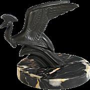 Art Deco French Presse Papier of a Phoenix Bird Paperweight