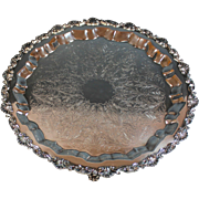 """Vintage Sheffield Silverplate Footed Tray Silver Plate 19"""""""