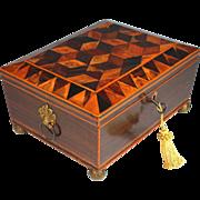 Antique Regency  Keepsake  Box with Working Key