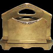 Art Nouveau Bronze Geschutzt Letter Holder