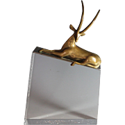 Dore Bronze sculpture of a Gazelle by Dutch Sculptor Loet  Vanderveen (1921- 2015)