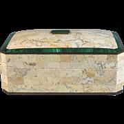 Marble and Inlaid Malachite Dresser Box