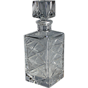 Cut Crystal Whiskey Decanter with Stopper