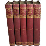 The History of the Decline and Fall of the Roman Empire Edward Gibbon 5 Volumes 1845