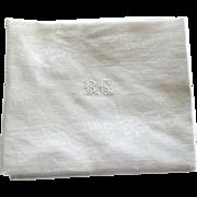12 Antique French Linen Monogrammed Napkins R C