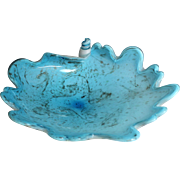 Vintage Turquoise Murano Glass Bowl