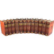 Set of 13 Charles Dickens Books,  Excelsior Illustrated Edition