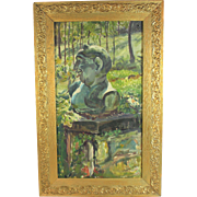 Oil on Board German Expressionist Painting 20th Century