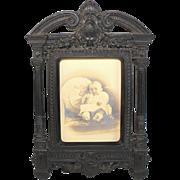 Antique Gutta Percha Picture Frame Renaissance Revival