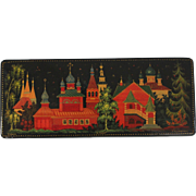 Small Vintage Russian Handpainted Lacquer Box Signed & Numbered