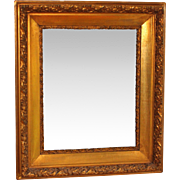 Vintage Beveled Mirror with Ornate Gilt Wood Frame