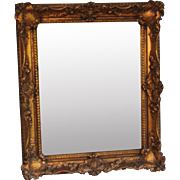 Vintage Wall Mirror with Ornate Gold Foliate Frame